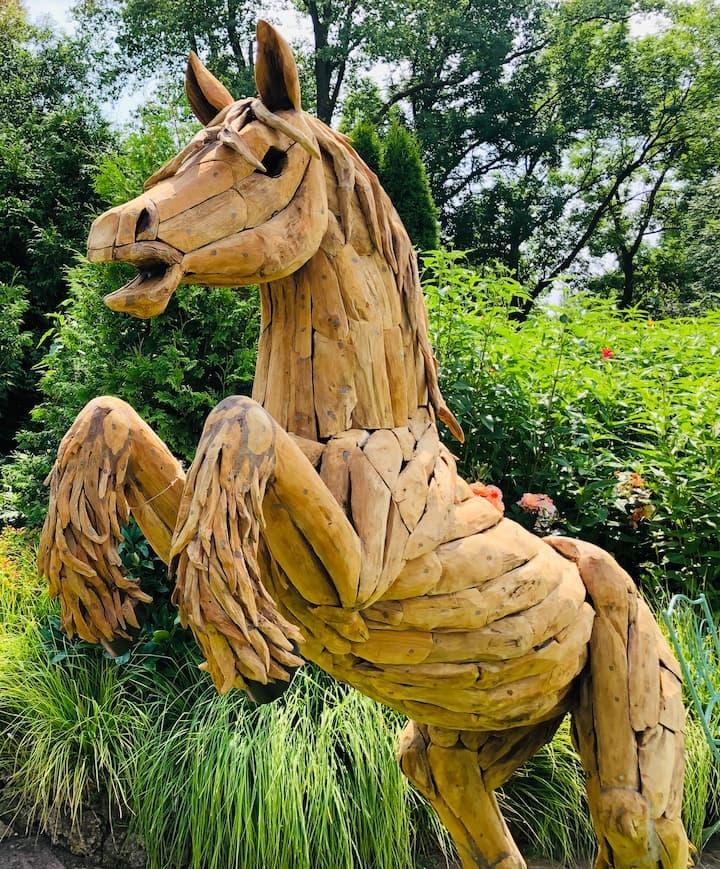Landgarten Ohrdruf, Produkt, Driftwood Holzskulpturen