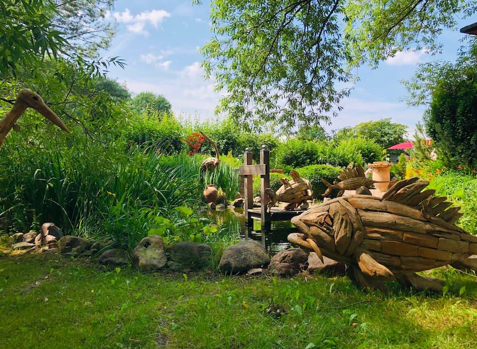 Landgarten Ohrdruf, Produkt, Driftwood Holzskulpturen, Amphoren aus Griechenland, Dekoartikel, Gartenideen